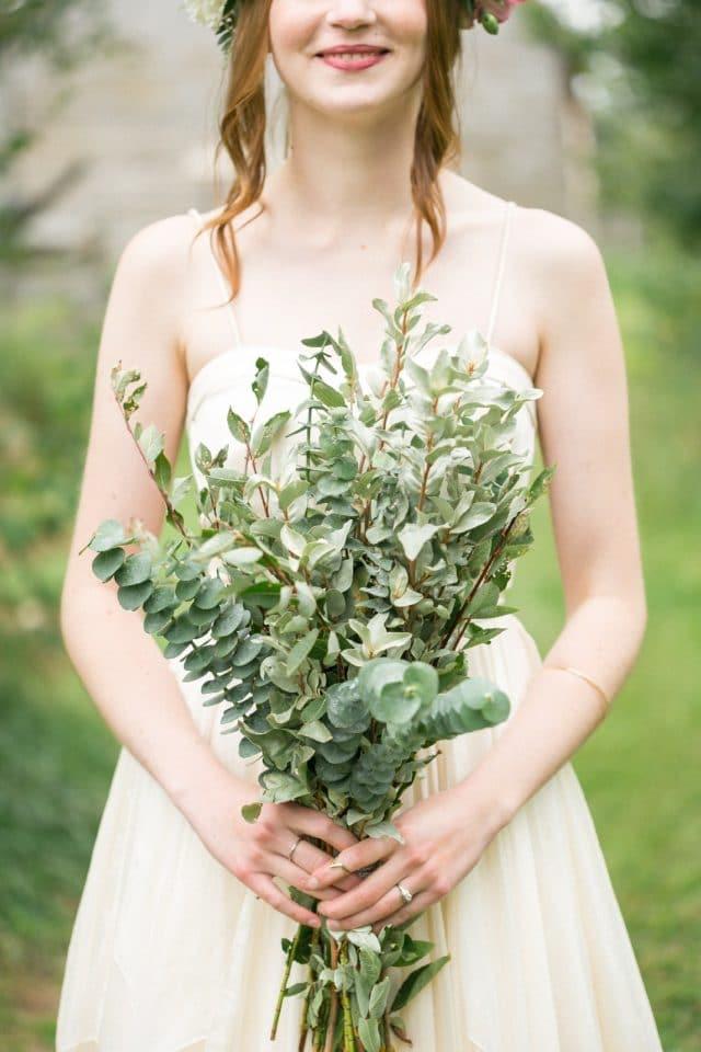 A close up of a brides bouquet in Saskatchewan.